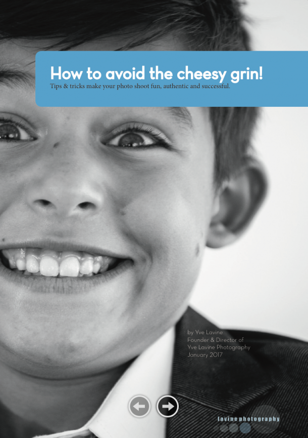 avoid the cheesy grin